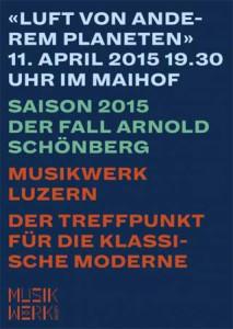 Alliance Fraçaise de Lucerne concert avec Musikwerk Luzern à MaiHof