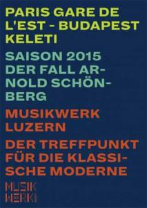 Alliance Française de Lucerne Affiche du concert Musikwerk du 20.06.2015